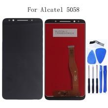 적합 Alcatel 3X5058 5058A 5058I 5058J 5058 T 5058Y LCD + 터치 스크린 디지타이저 부품 100% 테스트 + 무료 도구