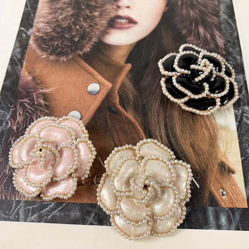 Marca de luxo jewlery estilo flores pérola Pins Broches de flor Broche broche de Jóias para As Mulheres