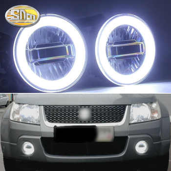 SNCN 3-IN-1 Functions Auto LED Angel Eyes Daytime Running Light Car Projector Fog Lamp For Suzuki Grand Vitara 2007 - 2012 - DISCOUNT ITEM  50% OFF All Category