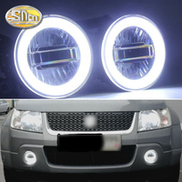 SNCN 3 IN 1 Functions Auto LED Angel Eyes Daytime Running Light Car Projector Fog Lamp For Suzuki Grand Vitara 2007 2012
