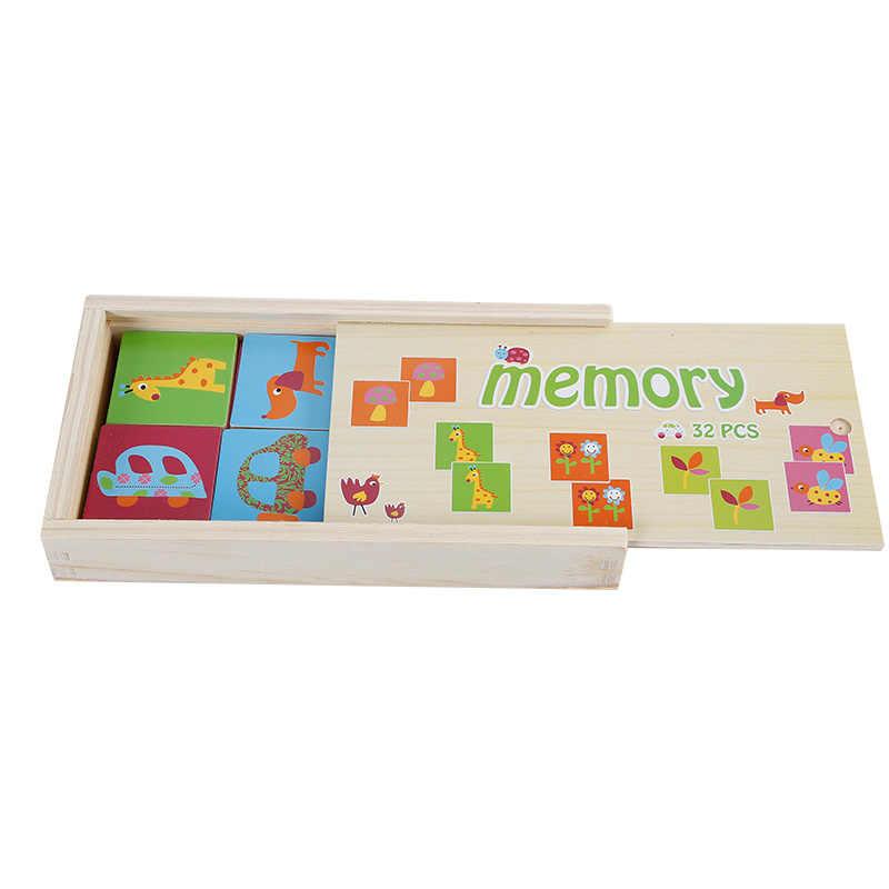 02df33e5620 ... 32pcs Jigsaw Puzzle Child Educational Toys Memory Domino Wild Farm  Animal Transportation Magnetic Game Children's Birthday ...