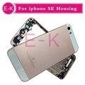De alta qualidade para o iphone se substituição habitação volta a tampa da bateria de metal de volta habitação ouro rosa cinza prata ouro + etiqueta da bateria