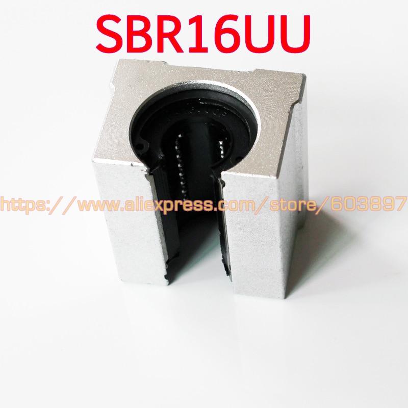 8 ピース/ロット SBR16UU アルミブロック 16 ミリメートルリニア motion ボールベアリングスライドブロックマッチ使用 SBR16 16 ミリメートルリニアガイドレール  グループ上の 家のリフォーム からの リニアガイド の中 1