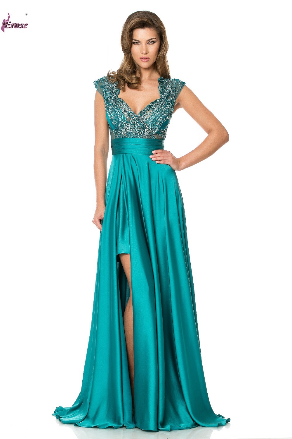 Wedding Teal Prom Dresses online get cheap teal short prom dresses aliexpress com alibaba ade 280 beaded appliques sweetheart high low back see through satin dress gown
