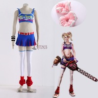 Athemis Lollipop Chainsaw cosplay ryona Cosplay Costume Cheerleader dress Outfit High Quality Same as original Character