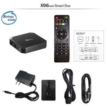 X96 Mini Android 7.1 TV BOX 2GB 16GB Amlogic S905W Quad Core Suppot H.265 UHD 4K 2.4GHz WiFi X 96 Mini Set-top Box