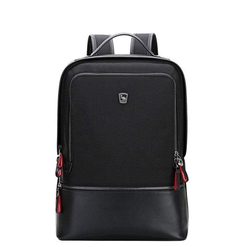 Oiwas Adjustable Men Women Nylon Backpack Casual Solid Color Business Bag Travel School Notebook Bag Black Best Gift oiwas fashionable design men women