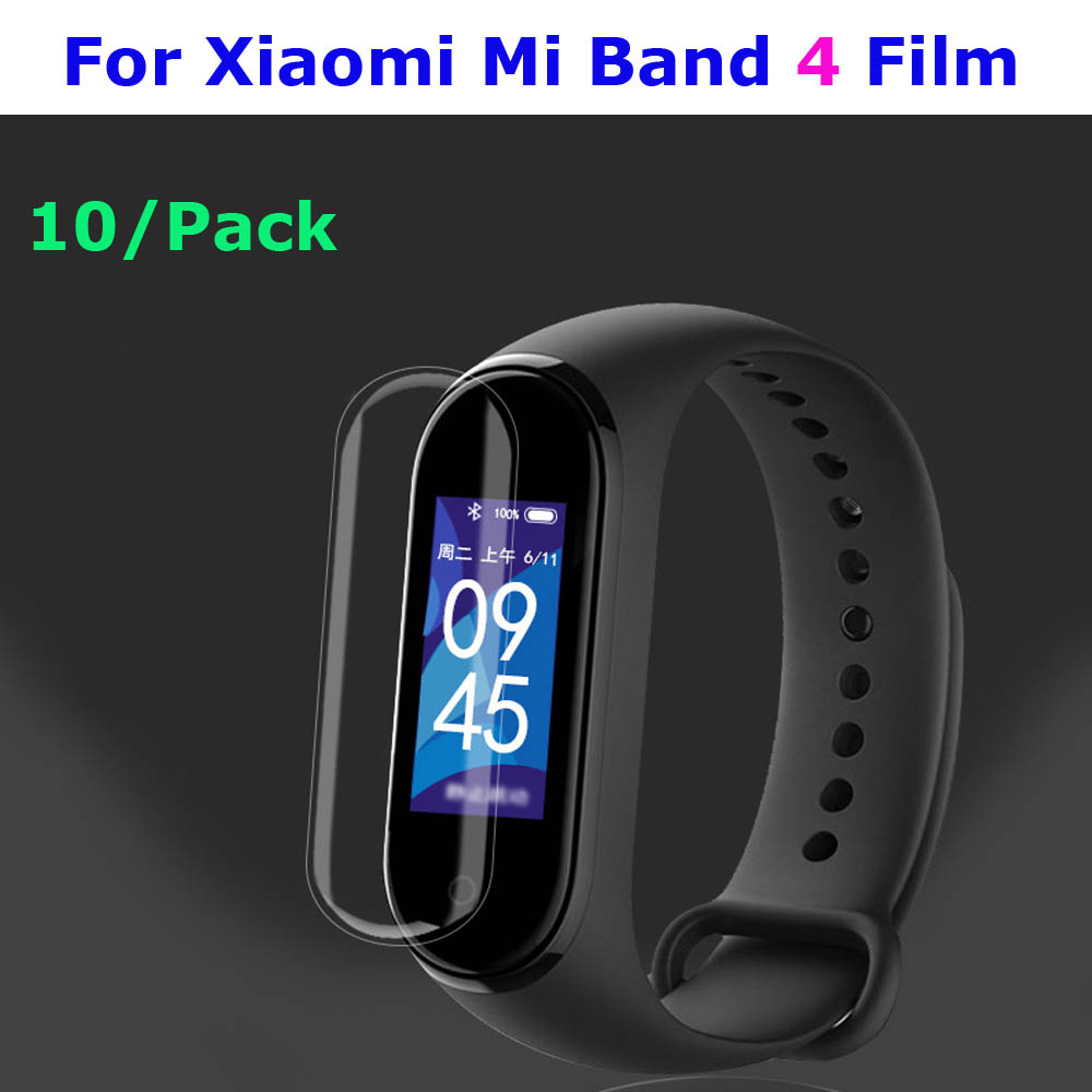 Mi Band 4 Protector Screen Film For Xiaomi Mi Band 4 Protector Pantalla Miband 4 Screen Film Protector 10 Pcs Protective Films-in Smart Accessories from Consumer Electronics