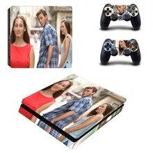 Pegatina de vinilo con diseño personalizado para PlayStation 4, pegatina de PS4 Slim para consola y controlador pegatina de PS4 Slim