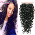 Indian Curly Virgin Hair Closure Indian Wet and Wavy Water Wave Lace Closure 7A Unprocessed Virgin Hair Curly Weave Human Hair