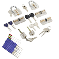 7 type Lock Set With Tension Wrench Tool kit, Practice Lock Pick Set for Locksmith,Broken Key Extractor Tool fot Training Skill