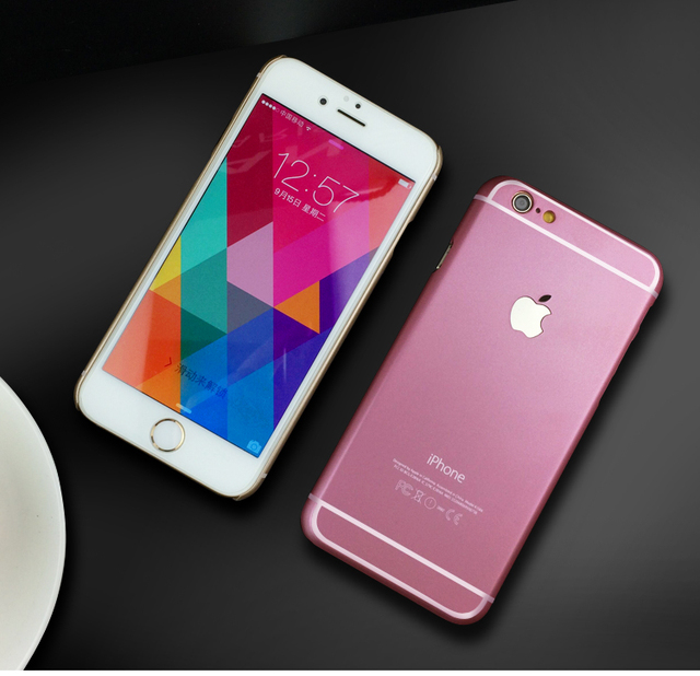 cec99bc7595 New Fashion Rose Gold Colorful back hard PC ultrathin cover case for iphone  5/5s 6/6 plus carcasa coque fundas for iphone cases