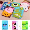3D Cute Cartoon Letter Mickey Pooh Stitch Mike Minnie Sulley Soft Silicone Case Cover For Ipad
