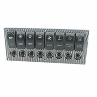 Limited sale 8 post waterproof laser etching rocker switch panel  Overload protection switch for marine yacht breaker