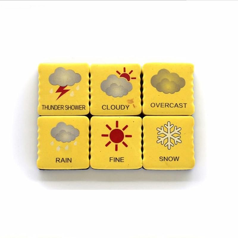 1 Pcs Weather Forecast Magnetic EVA Sponge Felt Whiteboard Eraser Dry Erase Board Cleaner Erasable Blackboard Marker Eraser