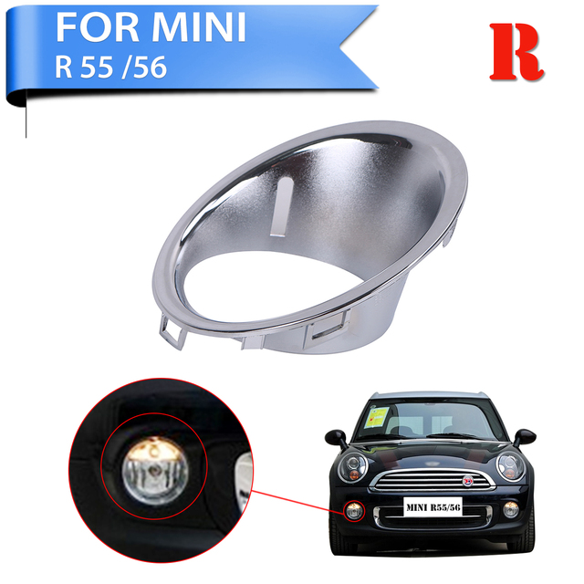 For Mini Cooper Base Clubman R56 R55 R57 Chrome Fog Light Trim Ring