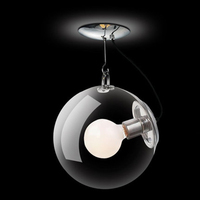 Modern Led LightGlass Soap Bubble Circular Ceiling Lamp Hang Dining Lamp Living Room Coffee Bar Droplight