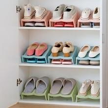 Shoe-Rack Stand Shelf-Holder Double-Layer Slot