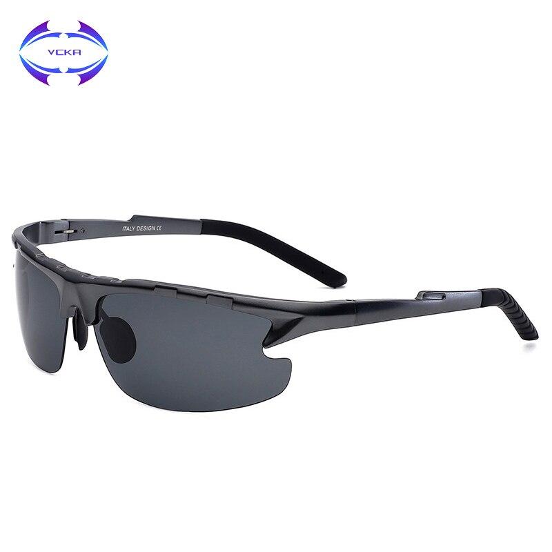 be2e2b6b43f66 VCKA Óculos De Sol Dos Homens Polarizados Condução Óculos de Sol Dos Homens  Designer de Moda Marca Óculos Masculino Óculos de Alumínio E Magnésio
