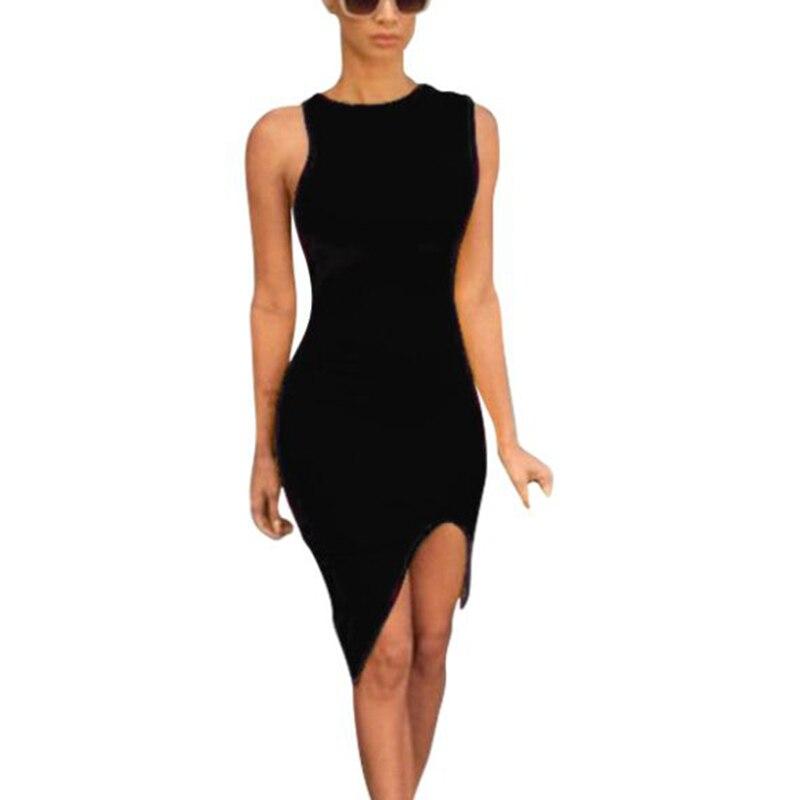 women bandage dress elegant black party dresses sexy sleeveless club wear boydcon dresses ladies office work mid dress