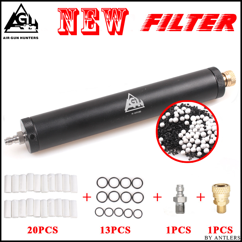 PCP Paintball Airforce Airsoft High Pressure Pump Filter Super Compressor Water-Oil Separator Air Filtering 8mm Fill Nipple