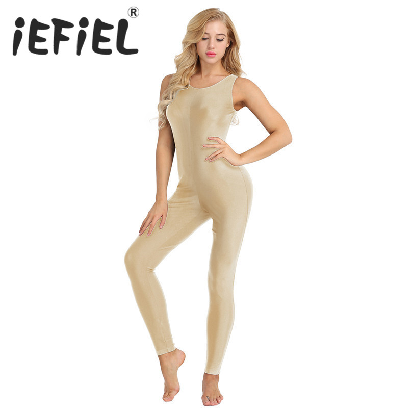 iEFiEL Fashion Women Adult Sleeveless Stretchy Tank Unitard Yoga Dance Leotard Bodysuit Jumpsuit for Ballet Gymnastics Costumes