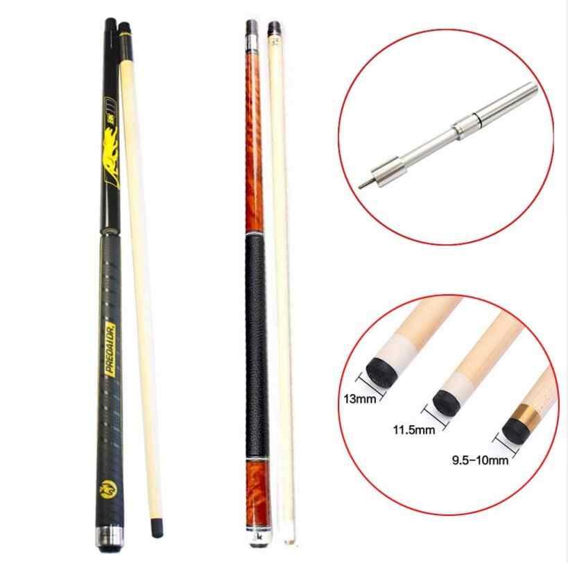 Preoaidr 3142 8 peças laminado eixo piscina cue vara 11.5mm 12.75mm 10mm ponta com extensão telescópica bk3 punch jump cue vara