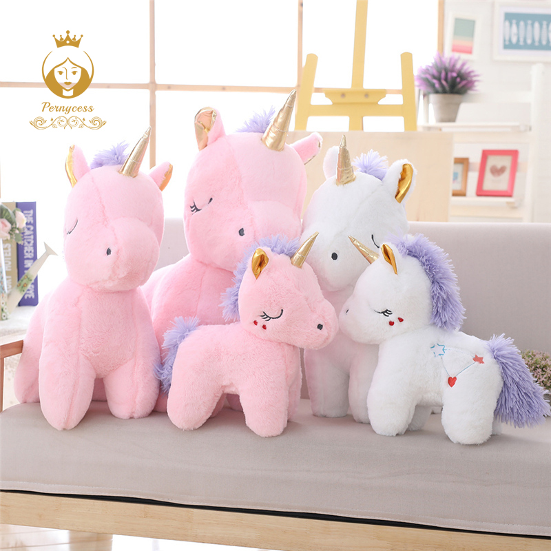 New arrival cute pink unicorn plush toy, soft horse plush stuffed doll, kids toys, appease dolls, Christmas presents stuffed toy
