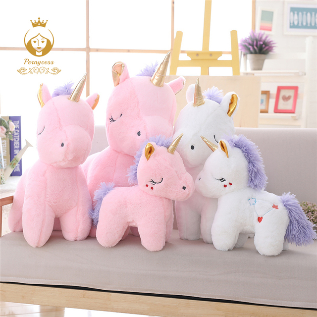 New Arrival Cute Pink Unicorn Plush Toy Soft Horse Plush Stuffed