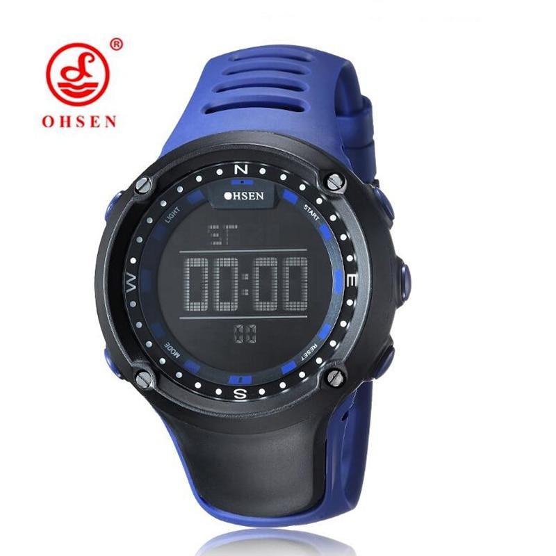 OHSEN Mode Blauw Zwart Alarm Waterdicht 5bar Buitensporten Horloges - Herenhorloges