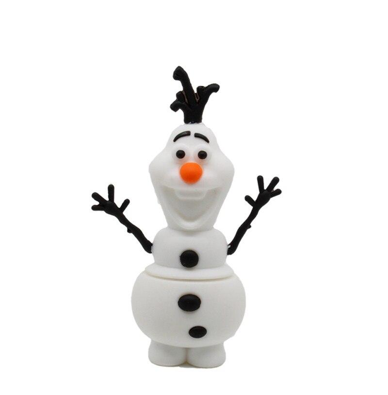 Cute Cartoon USB 2.0 Pendrives Olaf Lovely Snowman Usb Flash Drive 4GB 8GB 16GB 32GB Pen Drive Memory Stick U Disk