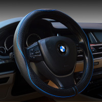 Embossed Steering wheel Cover For BMW For CRV 2017 Interior Accessories Genuine Leather Steering Wheel Covers For CRV 2017