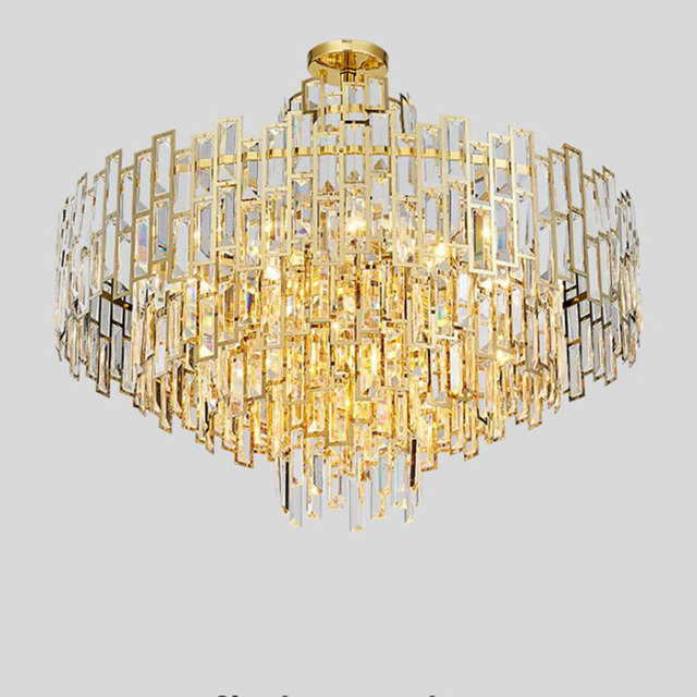 Modern Art Deco LED Chandelier Lustres Luxury Lobby Dining Room Living Lamps Gold Restaurant And Bar Lamp