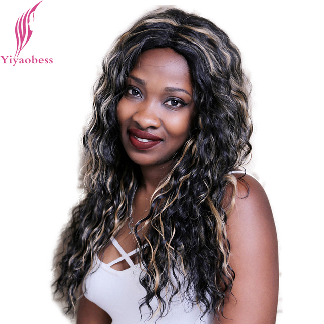 Yiyaobess 22inch African American Black Blonde Highlights For Hair