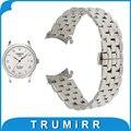18mm 20mm 22mm Stainless Steel Watch Band for Tissot T035 PRC200 T055 T097 Watchband Butterfly Buckle Strap Wrist Belt Bracelet