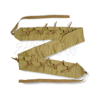 WW2 CHINA KMT GERMAN ARMED FORCES LINEN CANVAS LEATHER AMMO POUCH IELD EQUIPMENT