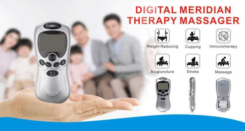 Estimulador muscular eléctrico adelgazante, masajeador de terapia de relajamiento de manos y piernas, para espalda, cuello y cintura, masaje Digital meridiano
