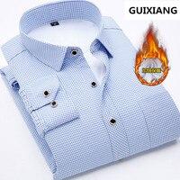 2017 winter shirt men's casual fashion 100% cotton long sleeved shirts men's high quality thicken warm shirts men 7 colors