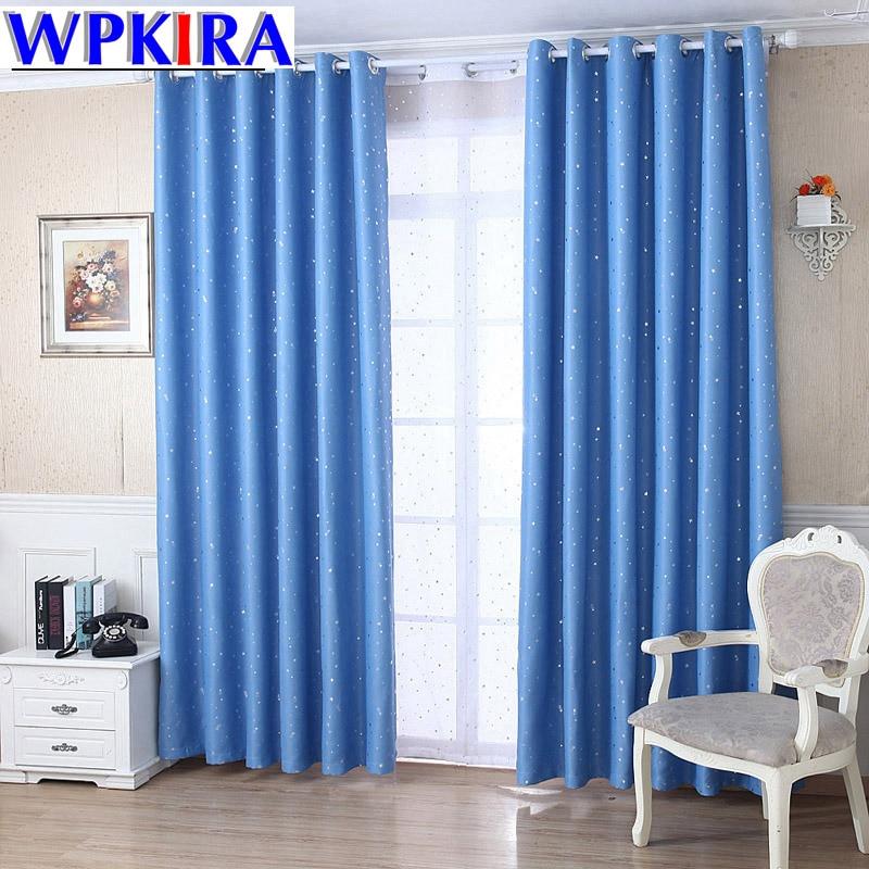 Blackout Curtain Set Cortina Star Patterned Rustic Sheer