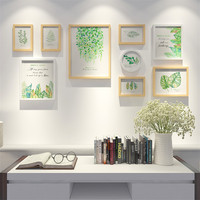 Творческий Комбинации 9 шт./компл. черный, белый цвет дерево фоторамка набор Книги по искусству украшения дома стены пастырской фоторамки дл
