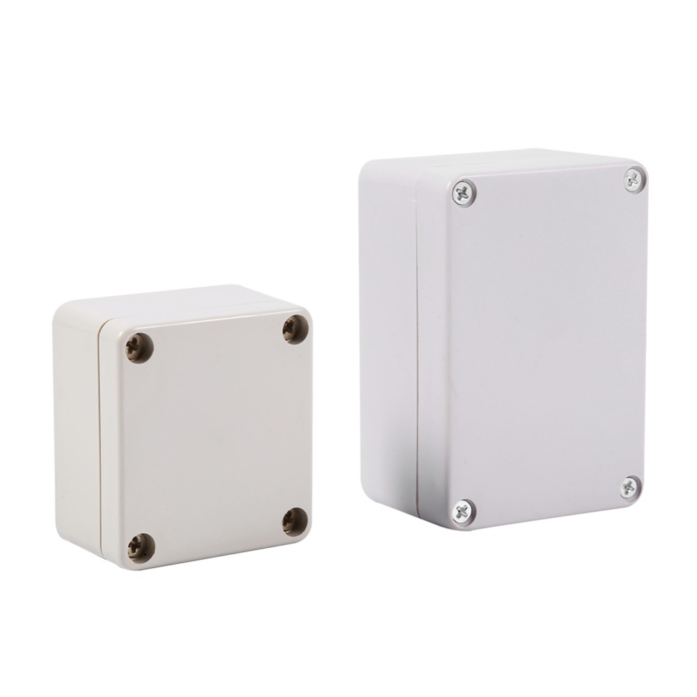 Junction Box IP66 Waterproof Dustproof Thermoplastic ABS Junction Box Wire Connection Electrical Project Outdoor Enclosure 63 x 57 x 35mm