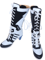 Suicide Squad Clown Harley Quinn Cosplay Boots Shoes Custom Made Any Size
