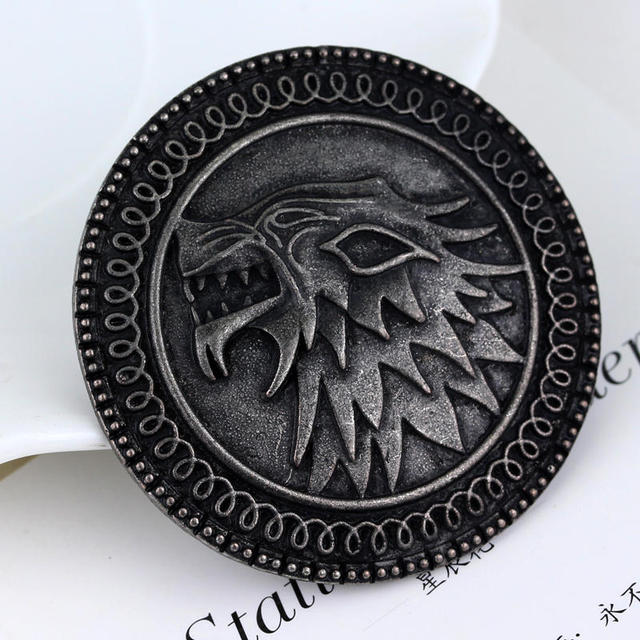 HOUSE STARK BROOCHES PIN