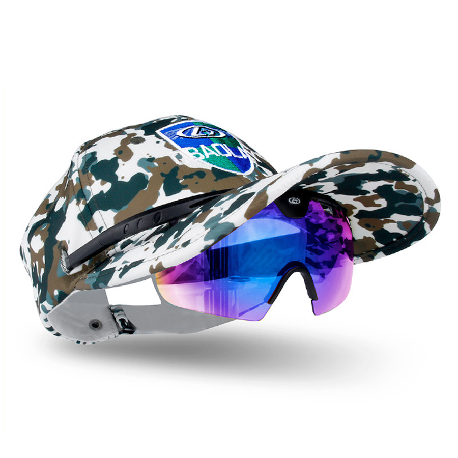цена на Polarized Fishing Sunglasses Men Camping Hiking Goggles Uv400 Male Glasses Protection clip on Cap Sports Fishing Eyewear Polar