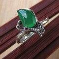 Гранат Кольцо Серебро 925 Bague Femme Желтый Зеленый Агат Чистого joyas де плата Стерлингового Серебра 925 Кольца для Женщин Ювелирные Изделия R145