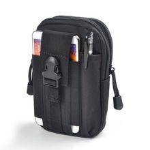 Bolsa военный мобильного бумажник нейлон пояс телефона путешествия мужские мешок сумки