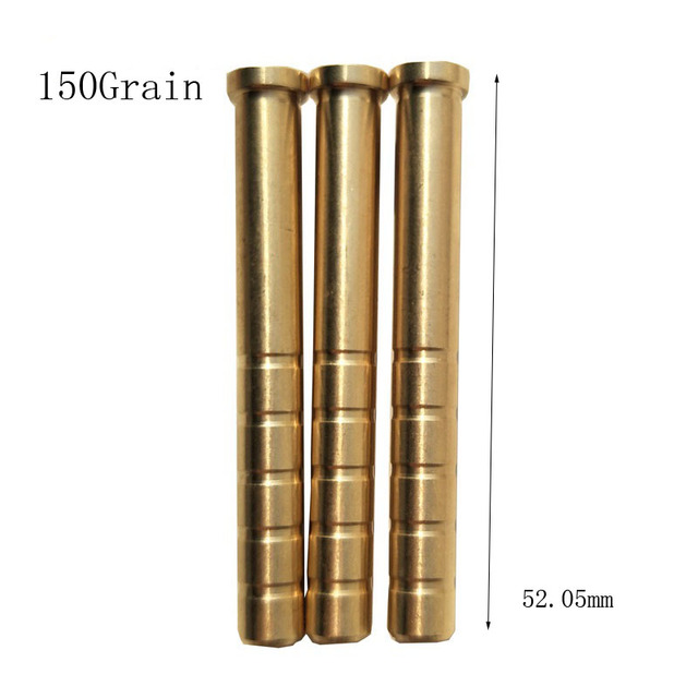 12 pcs Hunting Archery Arrow Insert Copper 38/50/100/150/200/250/300 Grains 6.2mm Carbon Rod OD7.6mm Bob-Weight Broadhead