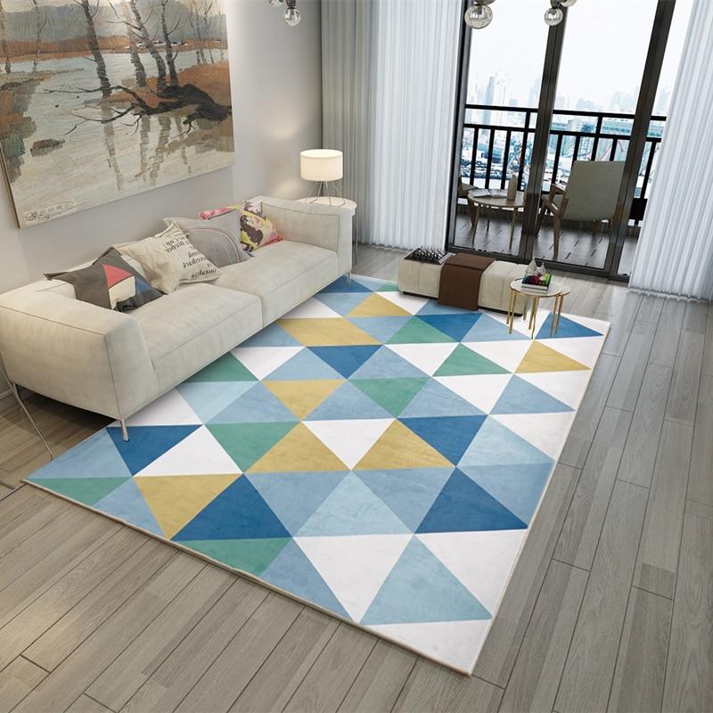 Factory Wholesale Minimalist Geometry Living Room Bedroom 3D Printed Carpet Nordic Carpet Pattern Floor Mat Hall Mat 180X280cm in Carpet from Home Garden