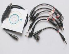 6 trong 1 Lập Trình USB Chương Trình Dây Cáp Cho Motorola CP380 CT150 CT250 CT450 EP450 2/Hai Cách Radio