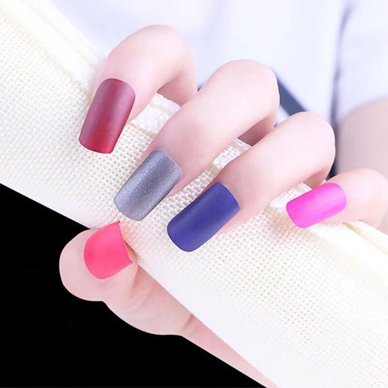 Hot 40 Colors Matte Nail Polish Dull Nails Polish Fast Dry Long ...